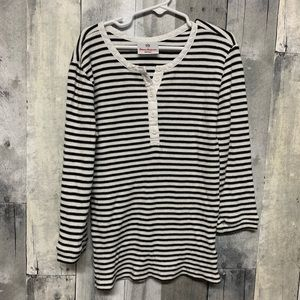 Hanna Andersson Striped Thermal Long Sleeve 140